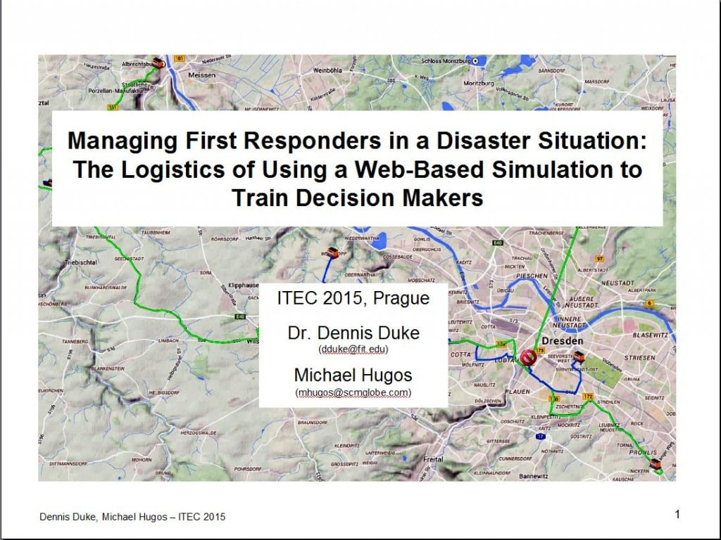 Using Supply Chain Simulations to Train Disaster Response Managers